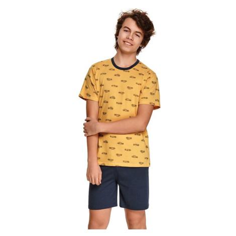 Chlapecké pyžamo Max žluté s auty Taro