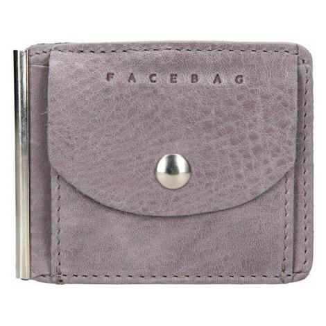 Pánská kožená dolarovka Facebag - šedá