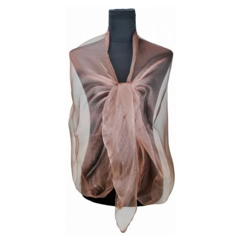 Hnědá dámská módní třpytivá dlouhá šála Cherine Lulu Bags