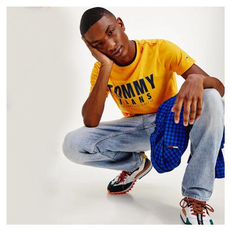 Tommy Jeans pánské žluté triko Tommy Hilfiger