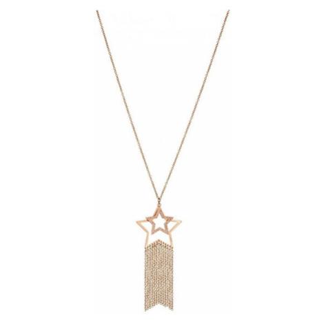 Liu.Jo Růžově zlacený ocelový náhrdelník s hvězdami LJ1215 Liu Jo