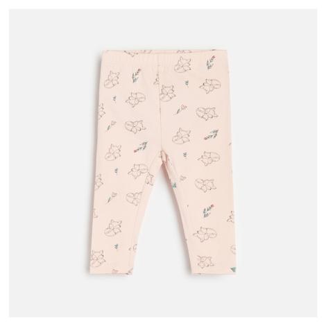 Reserved - Legíny s vysokým podílem bavlny a liščím motivem - Růžová