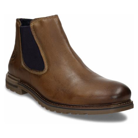 Hnědá pánská kožená Chelsea obuv Bugatti