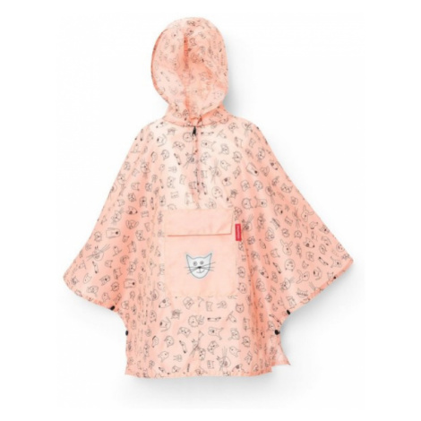 Dětské poncho Reisenthel M kids Cats and dogs rose
