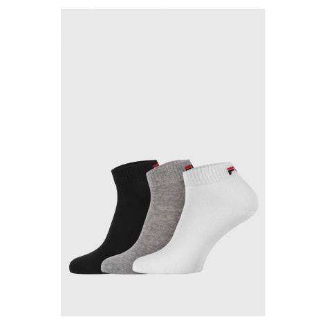3 PACK tří barev nízkých ponožek FILA
