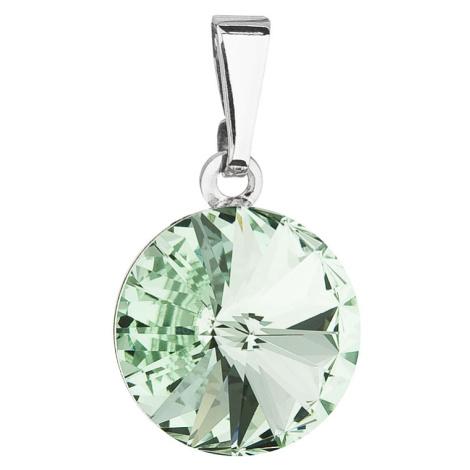 Evolution Group Přívěsek bižuterie se Swarovski krystaly zelený kulatý 54001.3