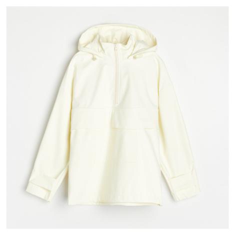 Reserved - Bunda do deště s kapucí - Žlutá