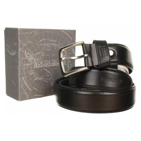 Napapijri kožený pásek černý