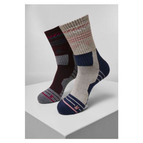 Urban Classics Hiking Performance Socks 2-Pack blue/grey