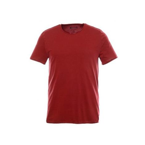 Tričko Mustang Raw Edge Tee pánské tmavě červené