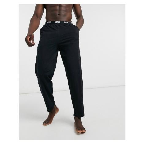 ASOS DESIGN lounge pyjama bottom in black with branded waistband