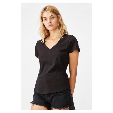 Dámské basic triko s krátkým rukávem One černá Cotton On