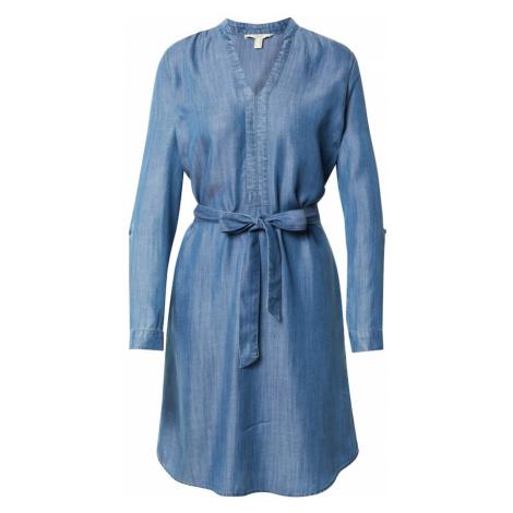 ESPRIT Košilové šaty modrá džínovina