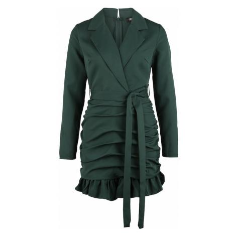 Missguided Petite Šaty tmavě zelená