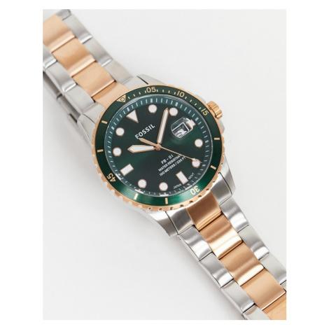 Fossil mens mix metal bracelet watch FS5743-Multi