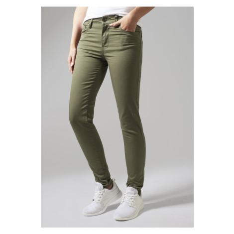 Ladies Skinny Pants - olive Urban Classics