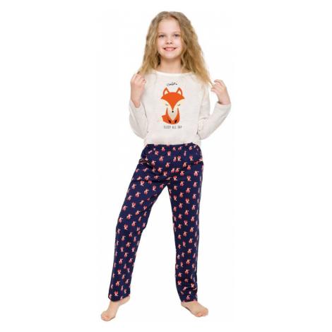 Taro Dívčí pyžamo Sofinka béžové s liškou