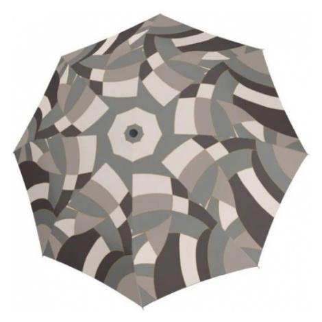 Šedý skládací plně automatický dámský deštník Abital Doppler