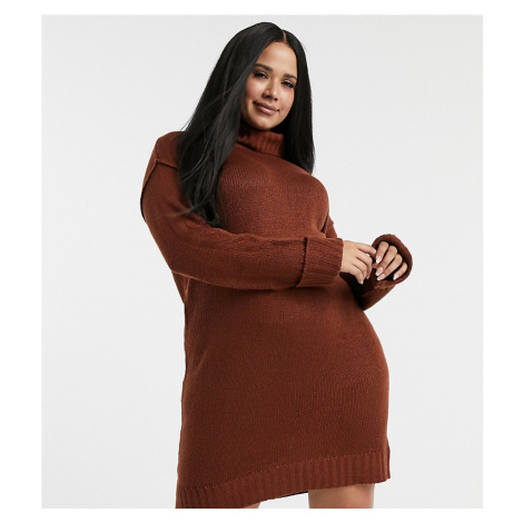 Brave Soul Plus tangy jumper dress-Red