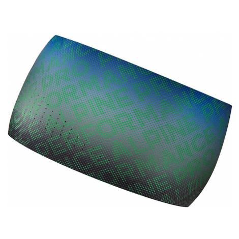 Sportovní čelenka Alpine Pro WAIA - zeleno-modrá