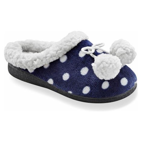 Blancheporte Fleecové pantofle s potiskem nám.modrá