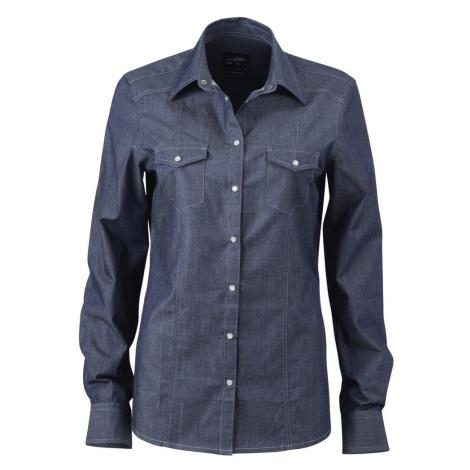 James & Nicholson Dámská džínová košile JN628