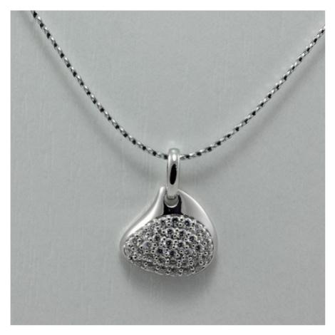 Dámský stříbrný přívěsek s bílými zirkony 3141458