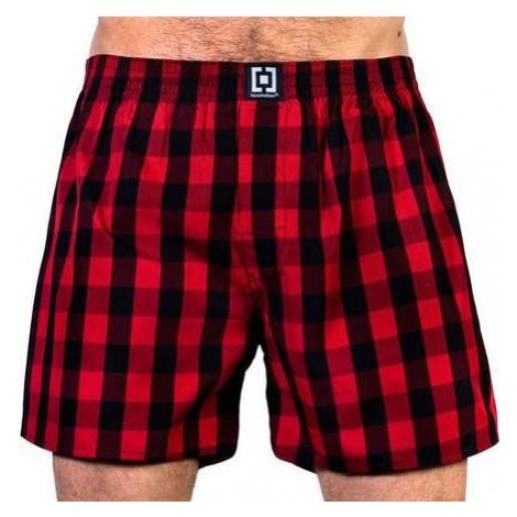 HORSEFEATHERS pánské červeno-černé kostičkované trenýrky SIN CHILLI Boxer Shorts