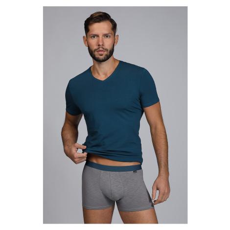 Pánský SET tričko a boxerky Raw man modrozelené Cotonella
