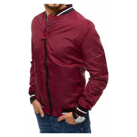 Men's claret transitional jacket Dstreet TX3681
