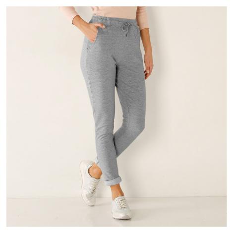 Blancheporte Meltonové kalhoty šedý melír