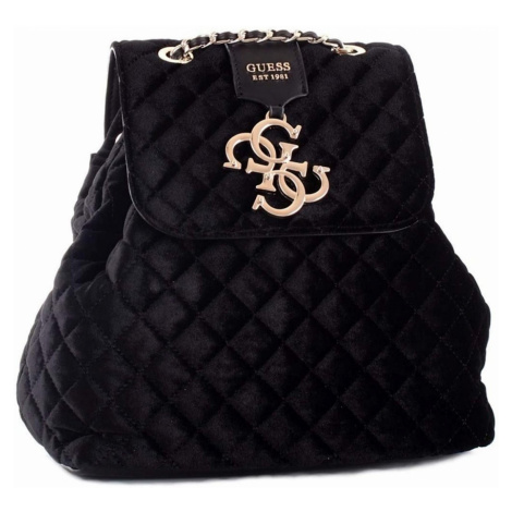Černý sametový batoh - GUESS