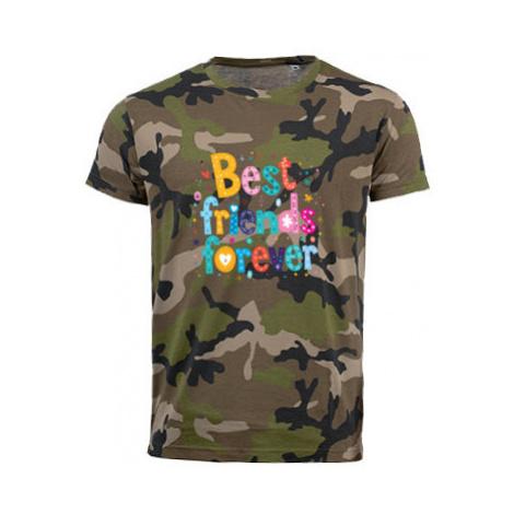 Pánské maskáčové tričko Best Friends