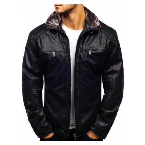 Černá pánská koženková bunda Bolf EX834 EXTREME