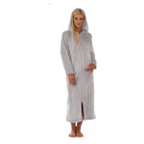 SIENA dlouhá s kapucí a se zipem dlouhý župan s kapucí na zip Vestis