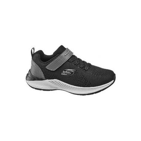 Černé tenisky Skechers na suchý zip