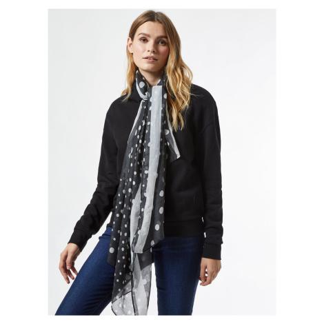Černý puntíkovaný šátek Dorothy Perkins