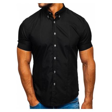 Černá pánská košile s krátkým rukávem Bolf 5528