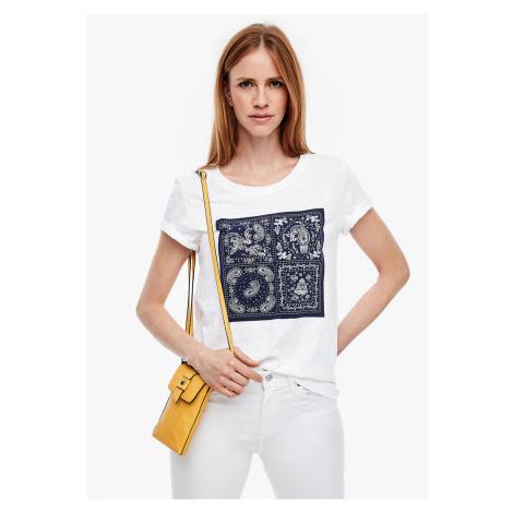 s.Oliver tričko z žíhané příze s potiskem 14.003.32.5020/01D0