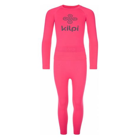 Dětské termoprádlo KILPI CAROLINE-JG růžová