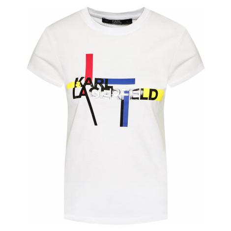 Bílé tričko KARL LAGERFELD bauhaus