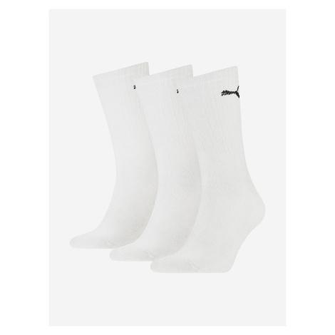 Sport Ponožky 3 páry Puma Bílá