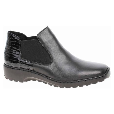 Dámská kotníková obuv Rieker L6090-02 schwarz