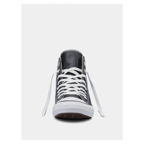Černé dámské kožené kotníkové tenisky Converse
