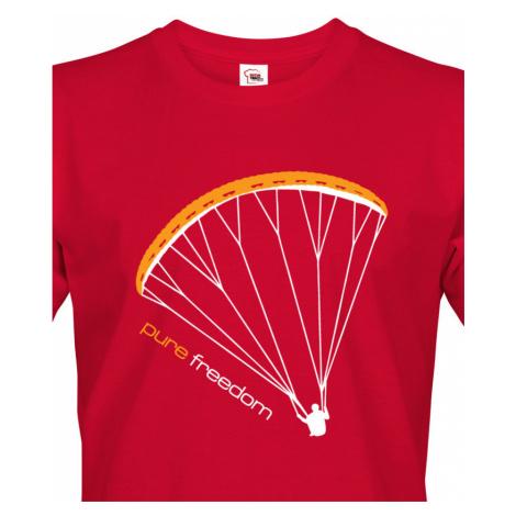 Tričko s paragliding motivem Pure freedom - doprava jen 46 Kč BezvaTriko