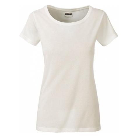 James & Nicholson Klasické dámské tričko z biobavlny 8007