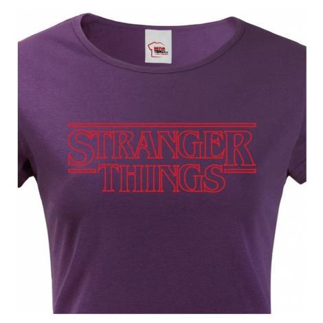 Dámské tričko s potiskem Stranger Things BezvaTriko