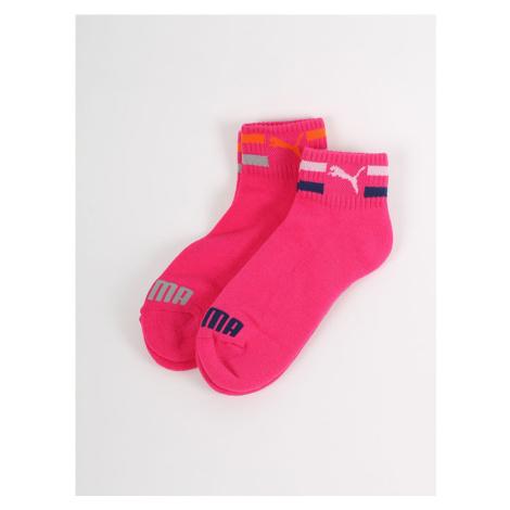 Ponožky Puma Clyde Jr Quarters 2 Pack Růžová