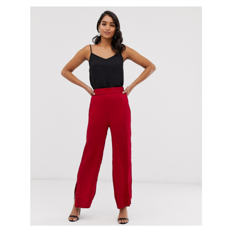 Closet wide leg trousers with side splits