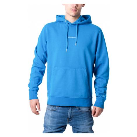 Calvin Klein pánská modrá mikina Hoodie s kapucí